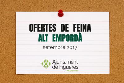 Ofertes de feina setembre 2017